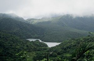 Dominica, the Island of 365 Rivers: Freshwater Lake. Photo by Monica Pisani
