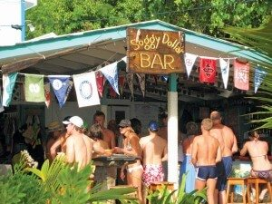 Sandy Spirits: Beach Bars That Rock Soggy Dollar Bar - Jost Van Dyke. Photo by Jan Hein