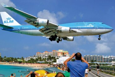 Sandy Spirits: Beach Bars That Rock Keep your head down - Sunset Beach Bar, St. Maarten. Photo by Jan Hein