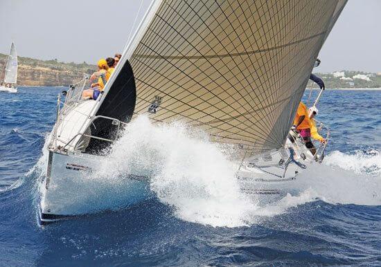 Sir Robert Velazquez's Beneteau L'Esperance on her way to victory in Non-Spinnaker Class. Photo: OceanMedia