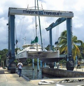 Hauling Out Catamarans in South Florida: Lauderdale Marine Center