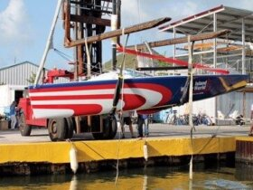 Team Island Water World launch their new Melges 24