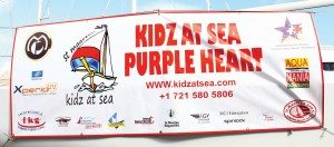 The Naming of Purple Heart: Kidz at Sea receives generous support from many local sponsors. Photo by the Editor