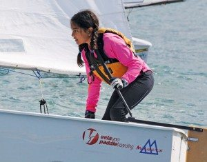 Pan Pepin International Dinghy Regatta: Following in father's footsteps! Miranda Torres racing in Optimist Class.