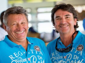 Les Voiles de St. Barth: Event Race Director Luc Poupon (left) and Event Director François Paul Tolède. Photo courtesy of Les Voiles de St. Barth