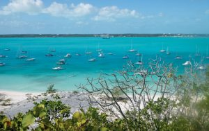 George Town, Bahamas: Paradise found...Elizabeth Harbour is mile upon mile of endless blue anchorage. Photo by Rosie Burr