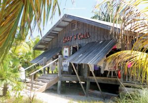 George Town, Bahamas: Paradise found...The infamous Chat 'N' Chill bar and restaurant on Stocking Island. Photo by Rosie Burr
