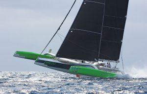 St Maarten Heineken Regatta:Phaedo's spectacular performance secured the Multihull 1 Class with straight wins and an astonishing lap of St. Maartenin 1h 19m 59s. Photo: OceanMedia