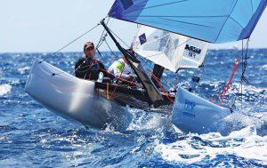 ThSt Maarten Heineken Regatta:Beach Cats made a welcome return to the regatta. Photo: OceanMedia