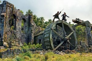 Hampstead Beach, Dominica and the waterwheel scene from Pirates of the Caribbean: Dead Man's Chest starring Johnny Depp. Photo courtesy of Dominica Film Commission
