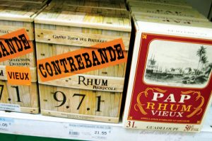 Deshaies Death In Paradise Case Closed: Rhum Agricole, by the box or the bottle. Photo by Jan Hein