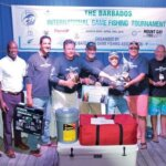 Barbados International Fishing Tournament: Champion Boat, Grey Ghost, from Barbados with owner Greg Ward (fourth from right). Photo courtesy of Barbados Game Fishing Association