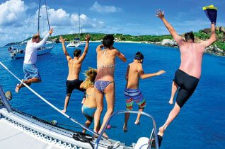 Charter Caribbean: Fantasy Island Jumpers. Photo courtesy of CharterPort BVI