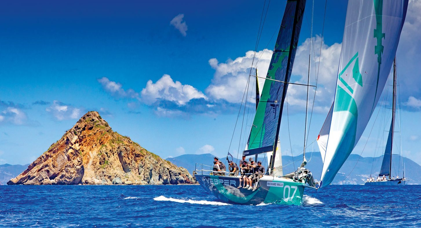 Racing Saint Barth: The rocks and islands form spectacular marks at Les Voiles de St. Barth. Photo: Jouany Christophe