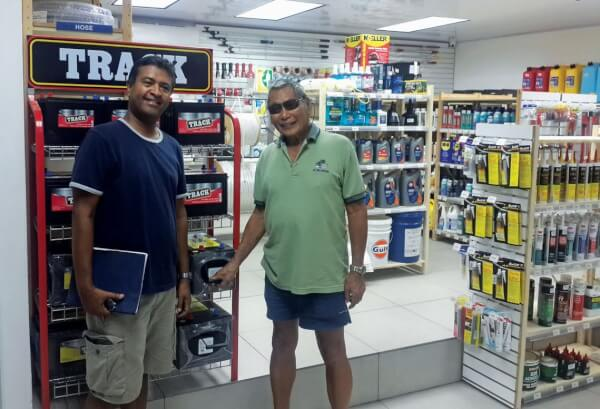 Customers look around Budget Marine's new outlet at the Trinidad & Tobago Yacht Club