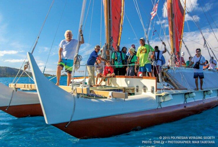 Hokulea BVI: Sir Richard Branson tours the BVI aboard Hokulea during its visit to the territory