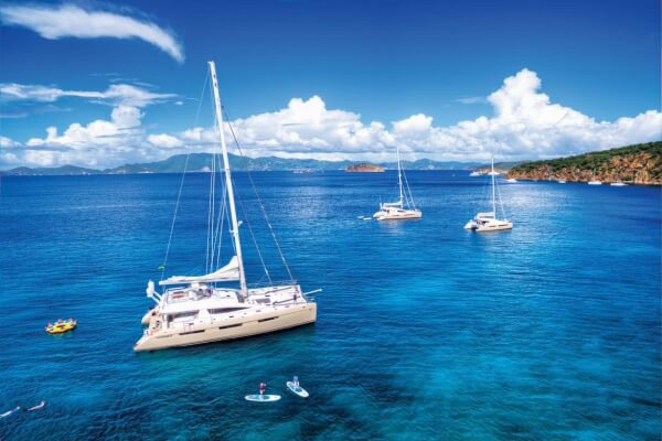 Charter Caribbean: Xenia catamarans. Photo courtesy of Regency Yacht Vacations
