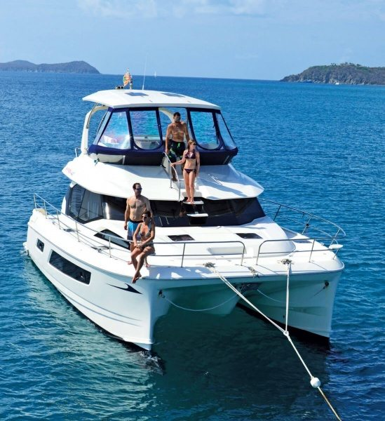Charter Caribbean: Power cats are a popular choice in summer. Photo courtesy of MarineMax