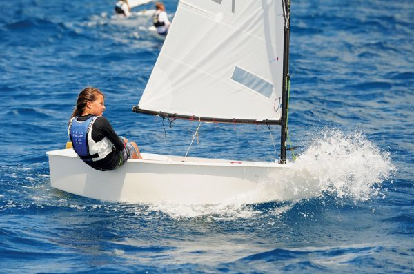 BVI Dinghy Championships : Mia Nicolosi sails downwind. Photos by Todd VanSickle