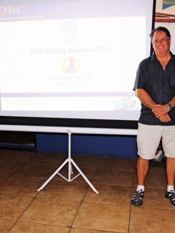 Offshore Racing Congress St Maarten : ORC presentation at the Sint Maarten Yacht Club, from left: Paul Miller, Zoran Grubisa and Dobbs Davis. Photo: OceaMedia
