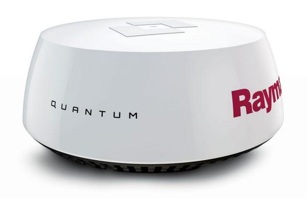 New Radar technology : Raymarine's Quantum radome. Photo courtesy of Raymarine