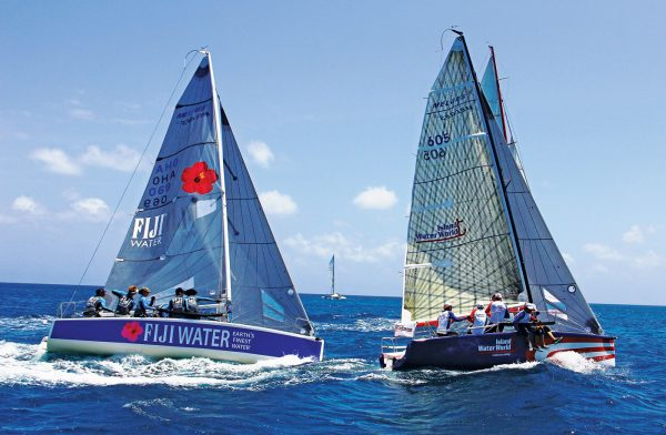Anguillas Sweet Regatta : The Melges 24 and Racing Class winner Team Island Water World leads Fiji Water across the start line