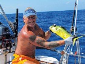 Art of Fishing : Robert catching Mahi Mahi off the coast of Mexico. Photo by Robert Scott