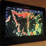 New radar technology : Raymarine radar display. Photo: Glenn Hayes