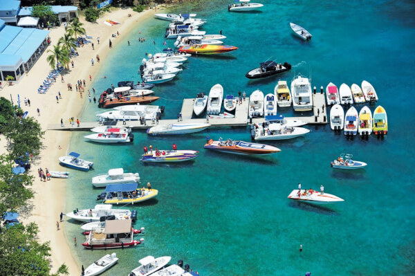 Leverick Bay Poker Run : participants stop at Pirates at Norman Island. Photo by Todd VanSickle