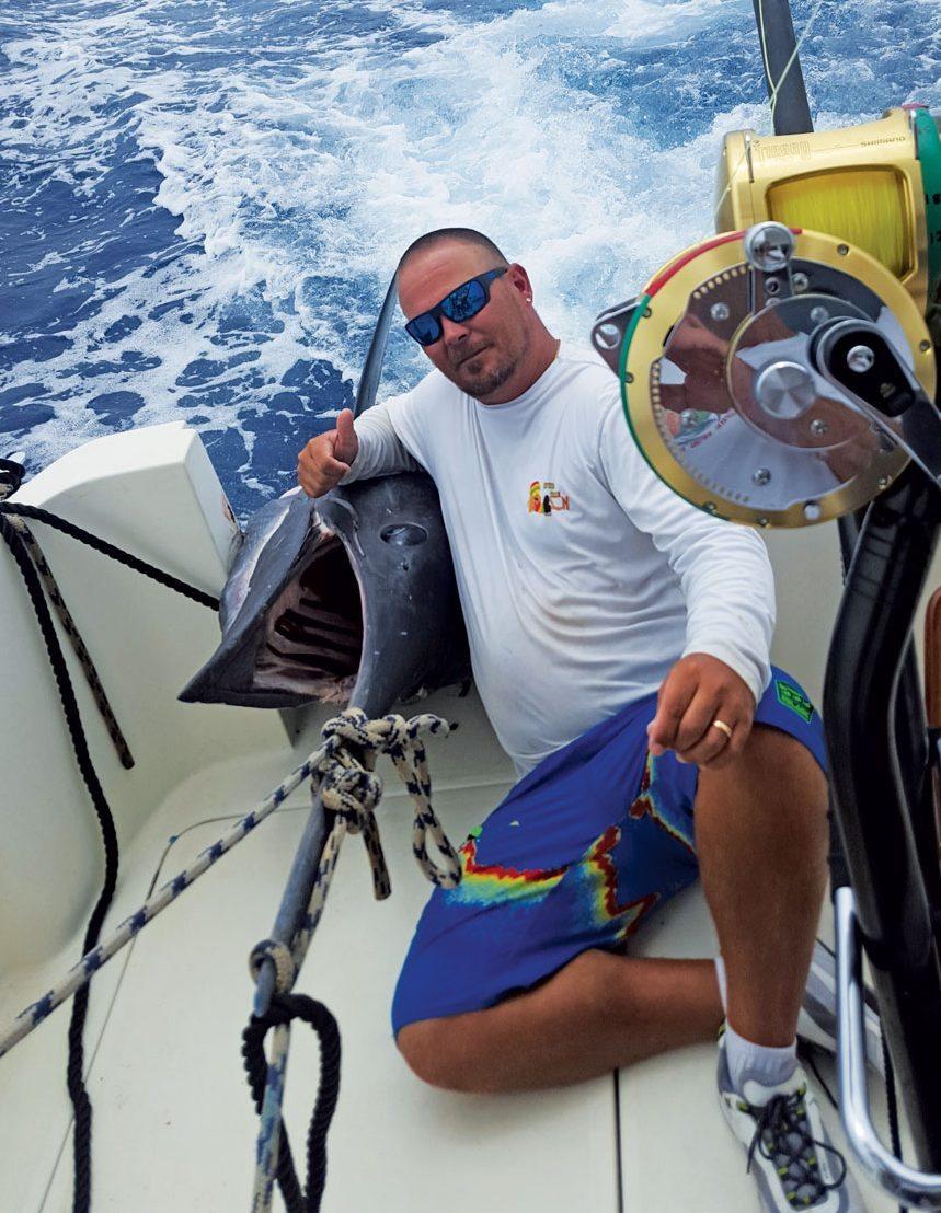 Sean Williams gaffed the monster marlin