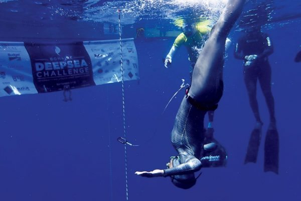 American freediver Ashley Chapman set two national records. Photo: Gaby Coste