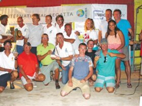 On the podium at the Aruba International Regatta