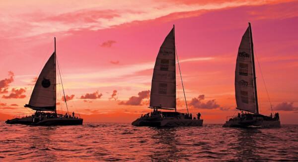 Pretty in Pink – Sint Maarten Sunset Cruise in aid of Breast Cancer Awareness. Photo: GaryBrown/OceanMedia