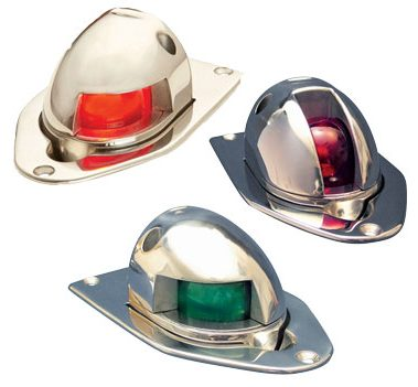Accon Marine's 205 Port (top left), 206 Starboard and 207 Side Pop-Up Lights