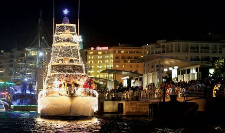 Lighted Boat Parade, Club Nautico de San Juan, Puerto Rico