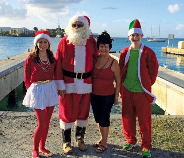 Santa and his St. Croix elves