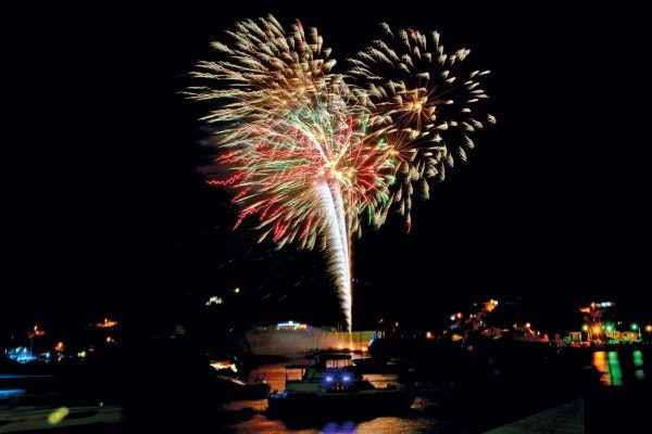 Lighting up the sky in Bequia. Courtesy of Bequia Tourism