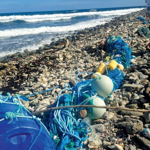 Much of the ocean trash washes ashore before it returns to sea and further degrades into tiny bits. Photo: Claudia Reshetiloff www.HealthThatFits.com