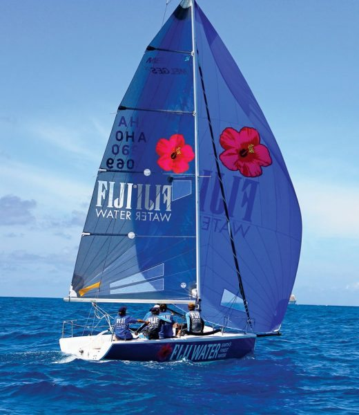The Gifford's race their Melges 24 sponsored by Fiji Water. Photo: OceanMedia/Gary Brown