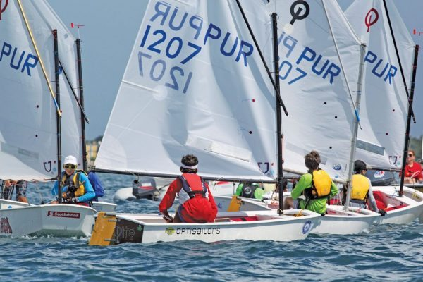 Optimists at the Discover the Caribbean Dinghy Regatta. Photos by Carlos Lee