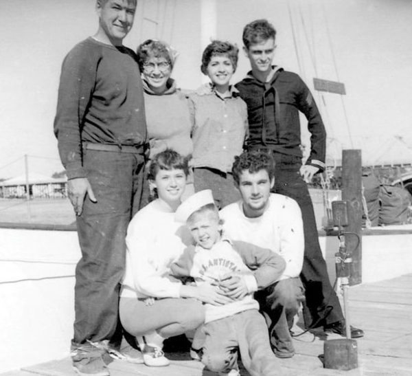 The crew of Elizabeth, early '60s, Florida