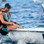 Photo: L to R, Taylor Ladd and William Bailey, winning sailors in the regatta's A division. Credit: Dean Barnes.