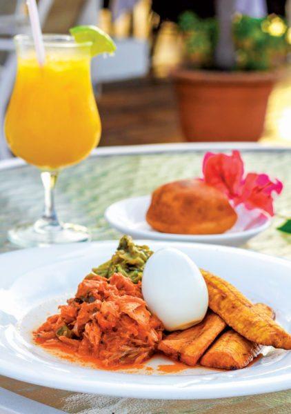 Traditional Antiguan Breakfast with Saltfish. Photo: Antigua Barbuda Food & Drink Guidewww.foodanddrink-antigua.com