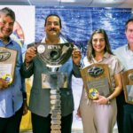 ILTTA 76 winners (from left): WallyHeinsen; tournament chairman Luis Infanzon, Carolina Mederos and Raúl Rizek. Photos by Marcos Caballero