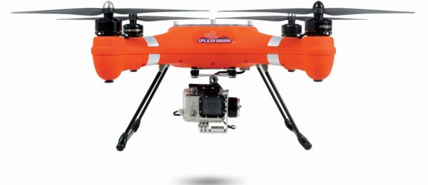The Splash Drone can land in the water and take off again, although you do need the watertight housing for the GoPro camera.