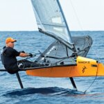 Sailing his Mach 2 foiling International Moth Nano Project Andy Budgen completed the Mount Gay Round Barbados Race