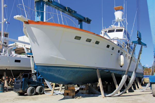 The classic sport fishing boat Silver Queen sank in Fort Louis marina. Photos: OceanMedia