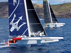 Maserati and Phaedo³ at the start. Photo by Tim Wright Photoaction.com