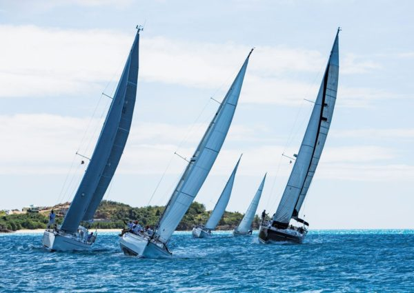 Approaching the mark – Jolly Harbour Yacht Club Valentine's Regatta