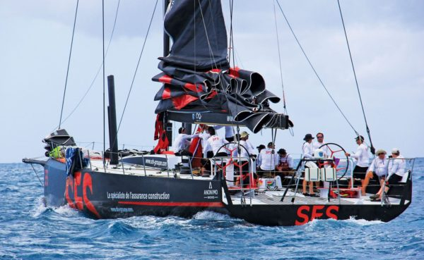Record-breaker and class winner – the French Volvo 70, SFS II, takes a breather between races. Photo Gary Brown / OceanMedia